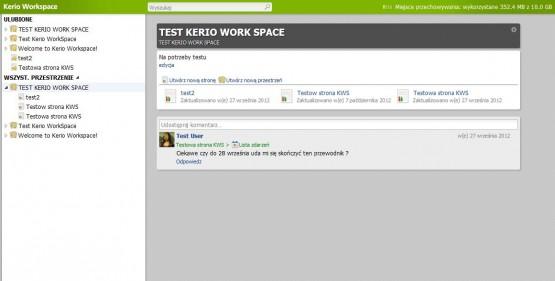 WorkSpace stary panel użytkownika